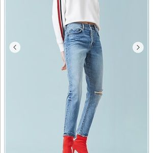 Forever 21 mom jeans distressed